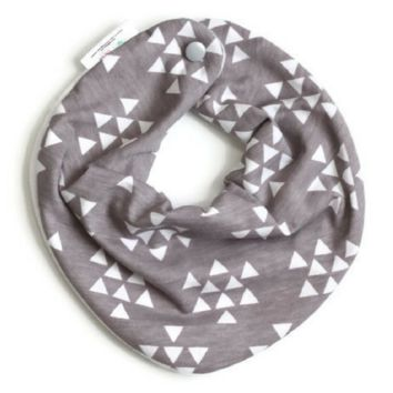 Grey Triangle Baby Bib