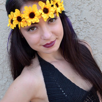 Yellow Daisy Headband #C1030