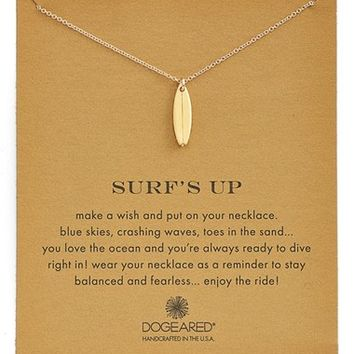 Women's Dogeared 'Reminder - Surf's Up' Surfboard Pendant Necklace
