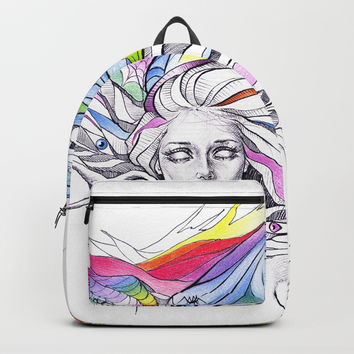 Dreams are made winding through her hair Backpack by edrawings38