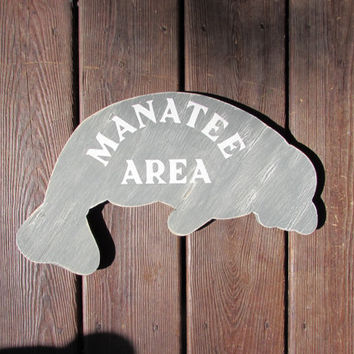 Small Manatee Sign. Manatee Area Sign. Manatee Decor. Coastal Sign. Made to Order