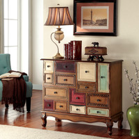 Furniture of America Cirque Vintage Style Multi-colored Chest | Overstock.com Shopping - The Best Deals on Coffee, Sofa & End Tables