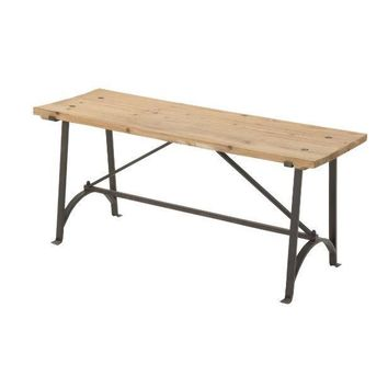 Iron Frame Accent Bench