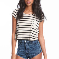 Striped Tulip Top - LoveCulture
