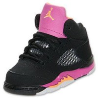 Girls' Toddler Air Jordan Retro V Basketball Shoes