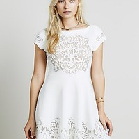 Free People Womens Ornate Fit n Flare Dress