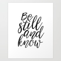 PRINTABLE Art, Be Still And Know,Typographic Print,Bible Verse,Scripture Art,Wall Art Print,Scriptur Art Print by Printable Aleks