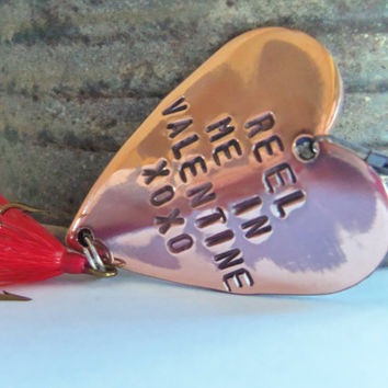 Valentine for Him Valentine's Day Gift for Men Personalized Gifts for Husband Be My Valentine For Girlfriend Couples Gift Fishing Lure Heart