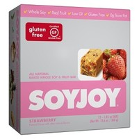 SOYJOY Strawberry Whole Soy and Fruit Bar - 12 Count