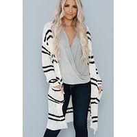 Straighten Up Cardigan (Black)