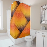 Halftone Sunset Shower Curtain