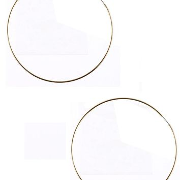 Gold Endless Wire Hoop Earring