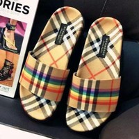 Burberry 2018 new women's fashion slippers sandals F