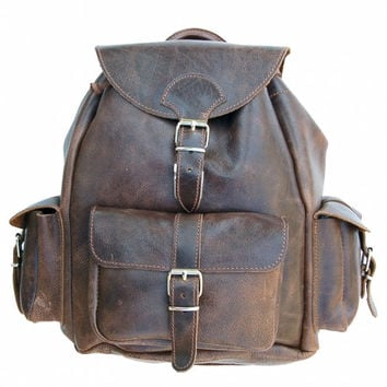 Leather Backpack! Weekender/Big Backpack/  Backpack  Unisex leather bag,zaino