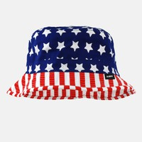 USA American flag pattern bucket hat