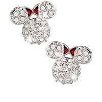 Disney Minnie Mouse Icon Earrings by Arribas - Domed | Disney Store