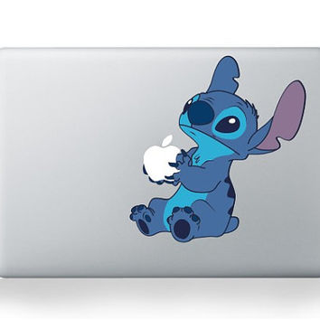 Stitch -- Macbook Sticker Macbook Vinyl Decal Macbook Pro Decal Sticker  Macbook Air Decal Sticker iPad Decal Sticker