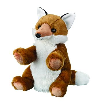 10 Inch Red Fox Hand Puppets Floppy Stuffed Animal