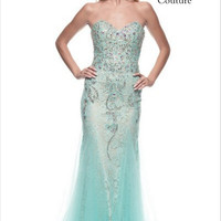 Kari Chang KC44 Jeweled Lace Mermaid Prom Dress