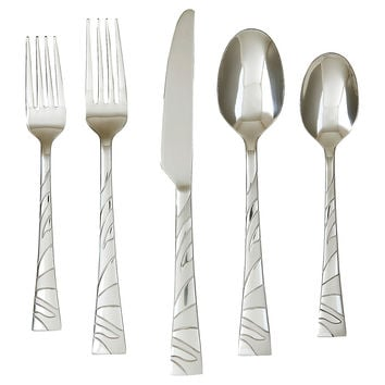 20-Pc Primm Sand 18/0, Flatware Place Settings