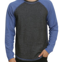 RUDE Black Blue Reversible Raglan