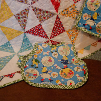 Whimsical Pinwheel Quilt - Perfect for baby