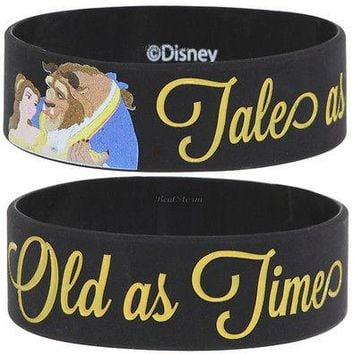 Licensed cool NEW Disney Princess Belle Beauty and The Beast Tales Old As Time Rubber Bracelet