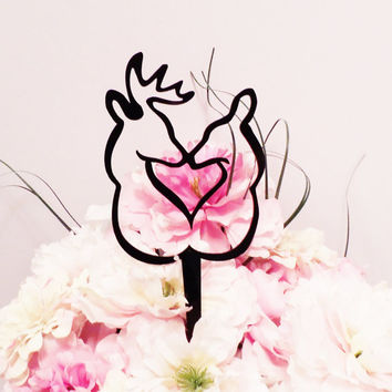 Outline Elk and Deer Cake Topper