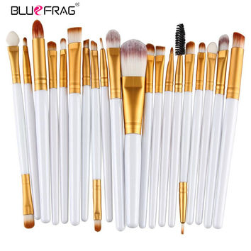 20pcs Eye Makeup Brushes Set Eyeshadow Blending Brush Powder Foundation