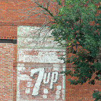 Vintage Soda Advertising Sign, Digital Art Print, Home Decor, Ready to Frame Photo, Wall Hanging, Nebraska Photograph, 7 up, Rustic, Red