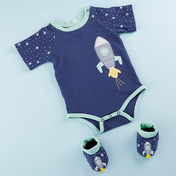 Cosmo Tot Spaceship 2-Piece Layette Set