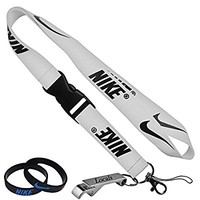 Nike Cell Phone Keychain Lanyard Keys ID MP3 Holder Neck Straps with LOCALS Bottle Opener with Nike Baller Wristband