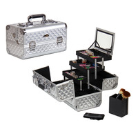 Shany Premium Collection Silver Diamond Makeup Train Case | Overstock.com Shopping - The Best Deals on Makeup Cases