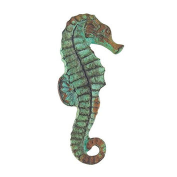 Vintage Seascape Sea Horse Antique Green Drawer Cabinet Cupboard Pull Knob