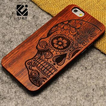 U&I Brand Thin Luxury Natural Wood Phone Case