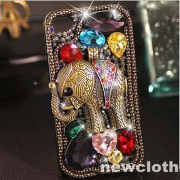 Glitter iPhone 5 Case cell phone case bling Swarovski by newcase