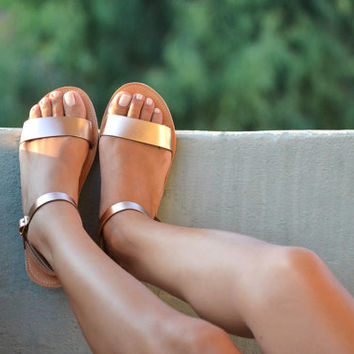 Sandals, Leather sandals, Ankle strap sandals, Handmade women shoes