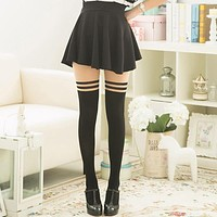 Fake Thigh Striped High Quality Women Tights Sexy Patchwork Nylon Stockings Spring Summer Autumn Seamless Pantyhose