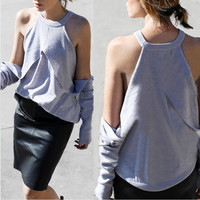 Women's Fashion Stylish Slim Tops [7322490433]