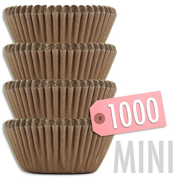 Mini Solid Brown Baking Cups 1000 pk