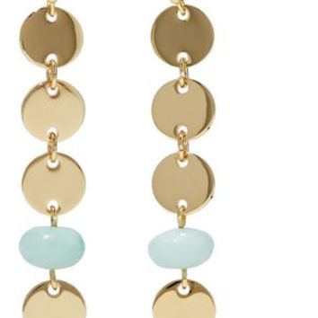 Gold-tone stone earrings | ELIZABETH AND JAMES | Sale up to 70% off | THE OUTNET