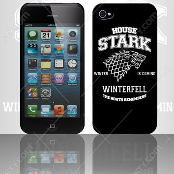 House Stark T-shirt T-shirts Hoodie Hoodies Tank Top Tank Tops Long Sleeve Long Sleeves Custom Phone Cases Winter Is Falling Winterfell