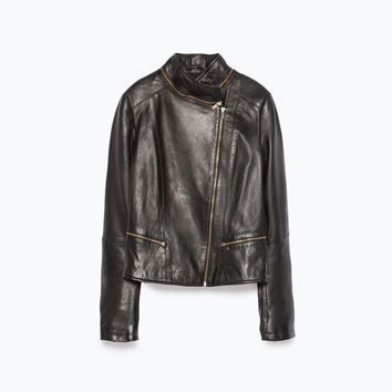 Leather tailored jacket