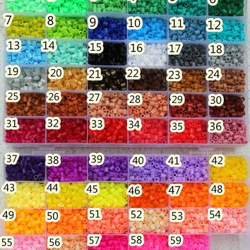 5mm hama beads perler fuse beads 59 colours iron beads kids DIY handmaking toys Gifts 1000pcs/bag