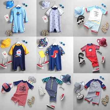 Children's Swimwear Boys 2018 New Cartoon Shark Baby Swimsuit Boy Kids One Pieces Bathing Suit Toddler Baby Boy's Swimming Suits