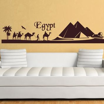 Wall Decal Sticker Egypt Safari Mountain Camels  z213