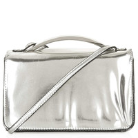 Metal Handle Crossbody Bag