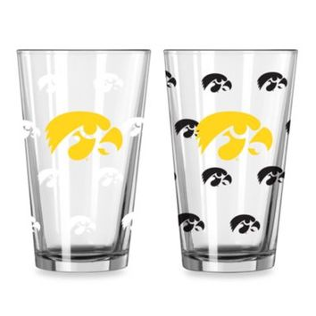 University of Iowa Color Changing 16-Ounce Pint Glasses (Set of 2)