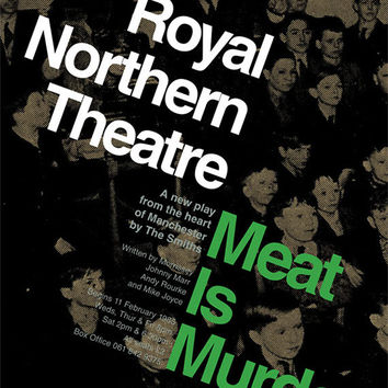 The Smiths 'Meat Is Murder' Theatre Poster Literary Print The Plays of Morrissey & Marr