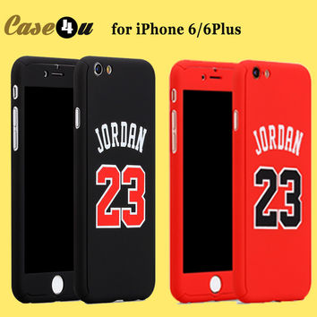 For iPhone 6s Basketball Player Hard Phone Case Jordan Kobe Bryant Curry 360 Full Body Case Cover for iPhone 7 6 plus Capinhas -Girllove100